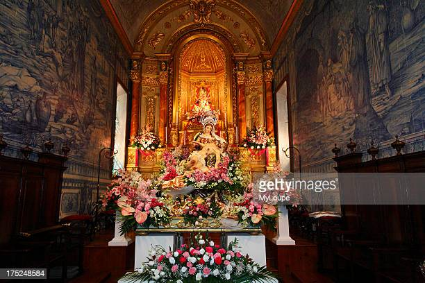 The church in the parish of Ponta Garca during the Nossa Senhora da Piedade religious fest Sao Miguel Azores Portugal