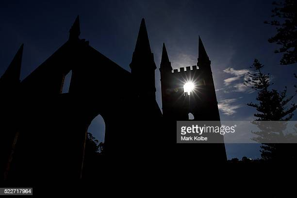 The church in the Port Arthur Historical Site is seen on April 18 2016 in Port Arthur Australia The historic town became infamous on April 28 1996...