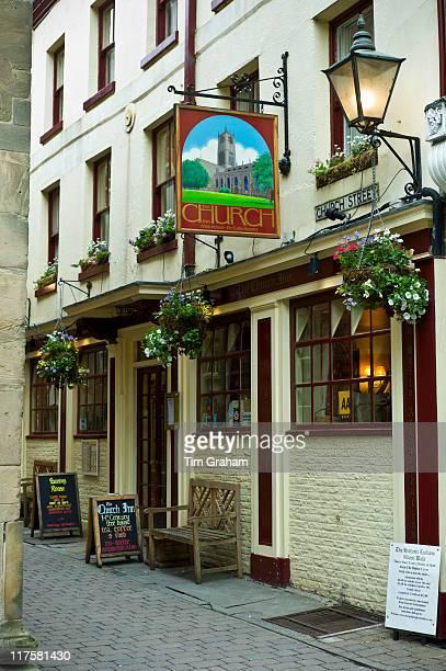 The Church Inn Tudor architecture in Ludlow Shropshire UK