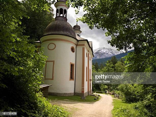 The church is located in the German Alps in Bavaria near Ramsau.
