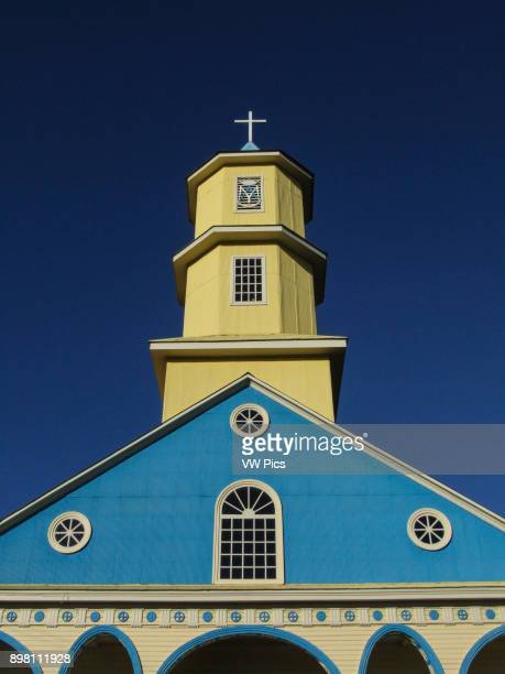 The Church of Chonchi or Church of St Charles Borromeo Conchi Chiloe Island was made a National Monument of Chile in 1971 The wooden churches of the...