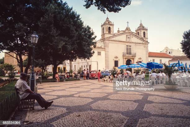the church of igreja de santa maria, lagos, algarve, portugal - lagos portugal stock photos and pictures