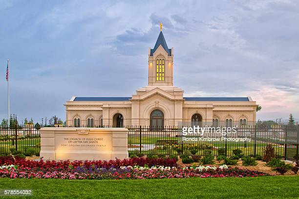 the church of jesus christ of latter-day saints temple in fort collins colorado - fort collins stock pictures, royalty-free photos & images
