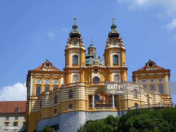 the church of melk abbey, austria - frans sellies stockfoto's en -beelden
