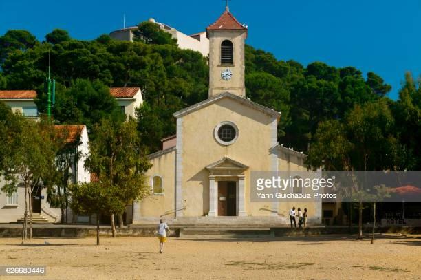 The Church Of Porquerolles Island, Alpes Maritimes, France