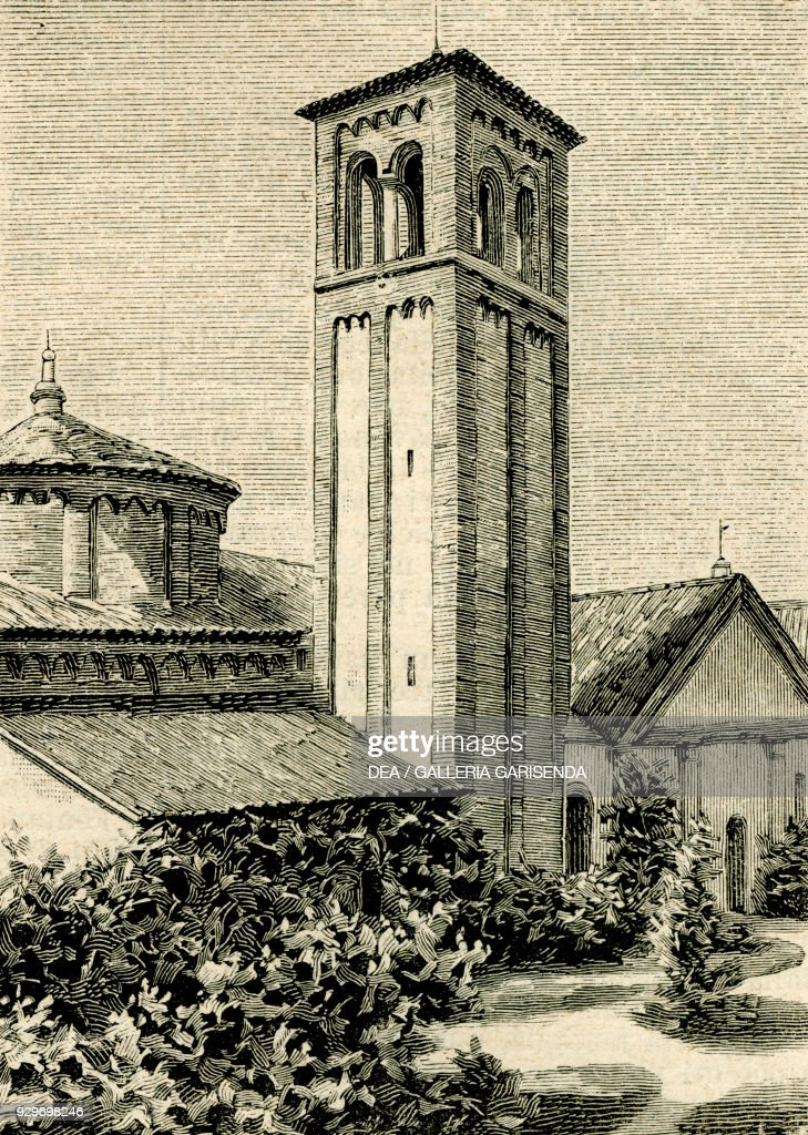 The Church Of Saint Martin Of Tours, Este, Veneto, Italy, Woodcut From