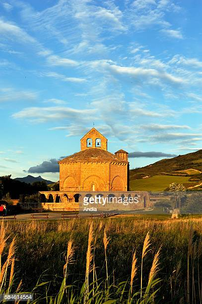 The Church of Saint Mary of Eunate dating back to the end of the XIIth century situated in Navarre on the Way of St James more precisely on the route...