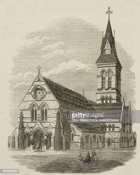 The Church of Saint Michael and All Angels Bromley London United Kingdom illustration from the magazine The Illustrated London News volume XLVIII...