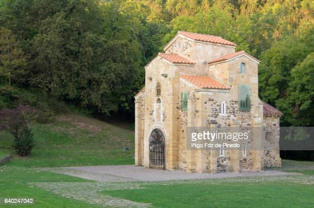 the church of san miguel de lillo- st. michael of lillo- oviedo- asturias- spain - oviedo stock pictures, royalty-free photos & images