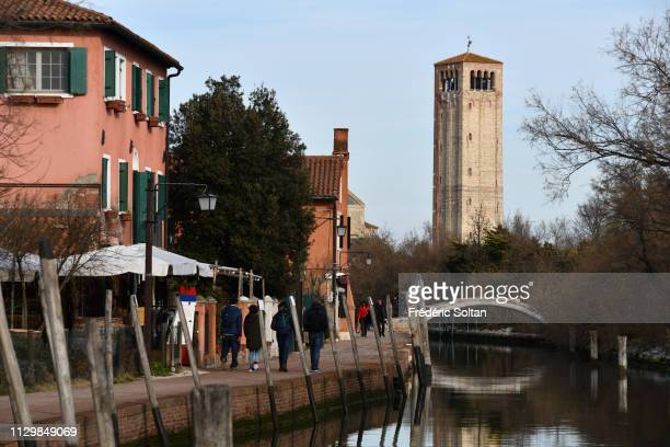 The Church of Santa Fosca in Torcello Island Venice Lagoon in Venice on February 07 Italy