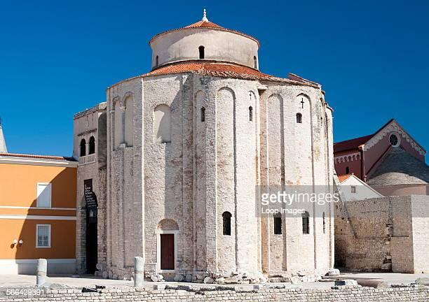The church of St Donat in Zadar on the Adriatic coast of Croatia