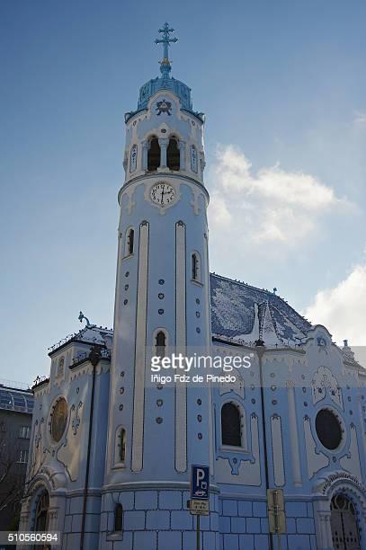 the church of st. elizabeth or blue church-bratislava-slovakia. - eslováquia imagens e fotografias de stock