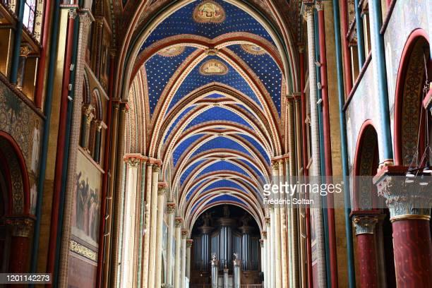 The church of St Germain des Prés in Paris on November 10, 2019 in Paris, France.
