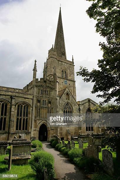 The church of St John the Baptist Burford Parish Church venue for the society wedding of Hugh Van Cutsem Junior to Rose Astor on June 4 2005 in...