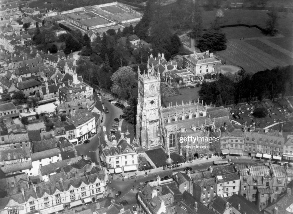 The church of St John the Baptist, Cirencester, Gloucestershire, 1952. Artist: Harold Wingham : News Photo