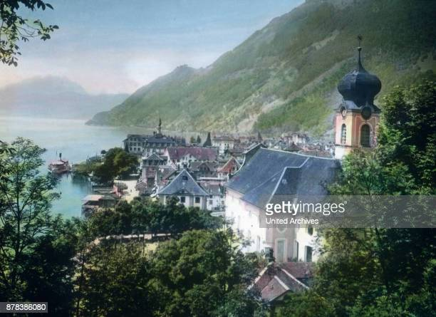 The Church of St Marcellus at Gersau in canton Schwyz Switzerland ca 1910s
