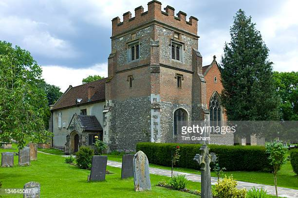 The Church of St Mary the Virgin and graveyard in Harefield Middlesex UK