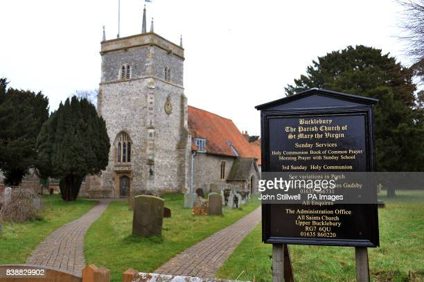 The Church of St Mary the Virgin in the village of Bucklebury west Berkshire where Kate Middleton the fiancee of Prince William grew up and where her...