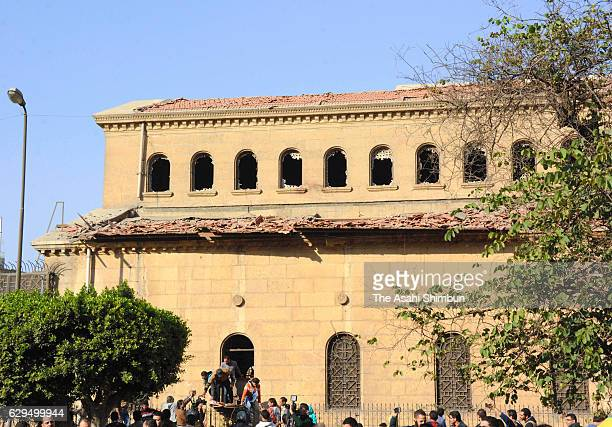 The church of St Peter and St Paul in the Coptic Cathedral complex is seen after an explosion on December 11 2016 in Cairo Egypt At least 25 people...
