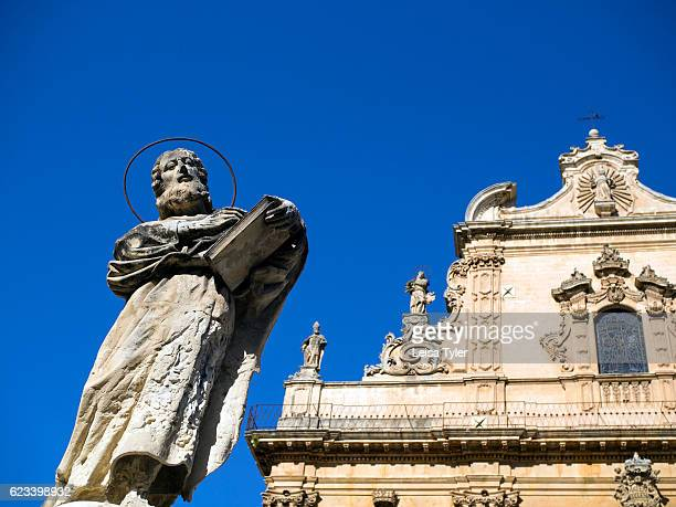 The church of St Peter or San Pietro in Modica a Baroque town with World Heritage status in Sicily