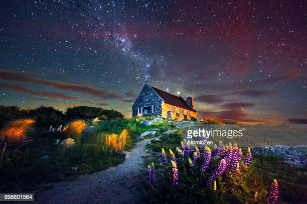 The Church of the Good Shepherd and the Milky Way, Lake Tekapo, New Zealand