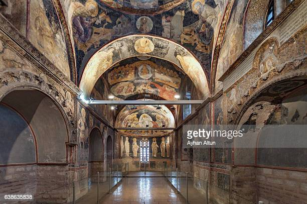 the church of the holy saviour in chora ,istanbul,turkey - kariye museum stock pictures, royalty-free photos & images