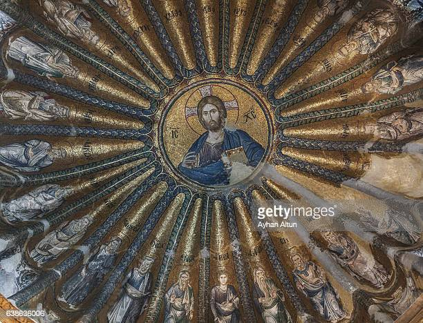 the church of the holy saviour in chora ,istanbul,turkey - jesus christ stock pictures, royalty-free photos & images