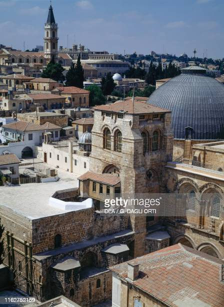 The Church of the Holy Sepulcher as seen from above , Jerusalem, Israel, 4th-19th century, detail.
