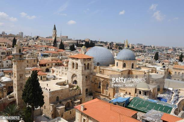 The Church of the Holy Sepulchre aka Church of the Resurrection in the Old City of Jerusalem on May 18 2014 in Jerusalem Israel