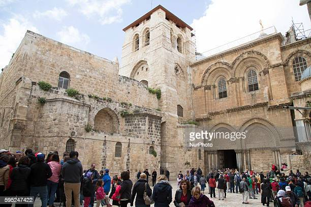 The Church of the Holy Sepulchre is pictured on Palm Sunday in Jerusalem Israel on March 20 2016