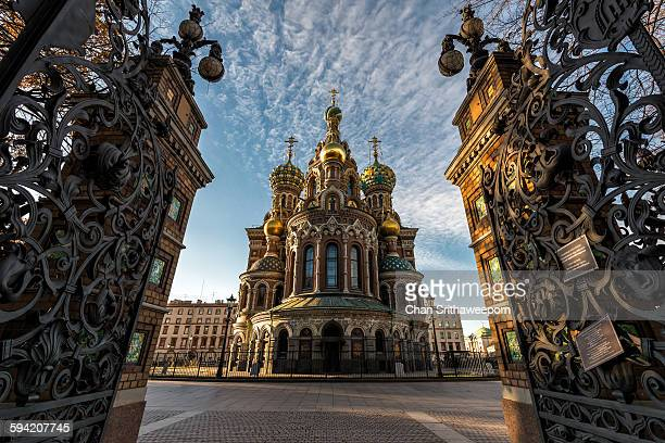 the church of the savior on spilled blood - st. petersburg russia stock photos and pictures