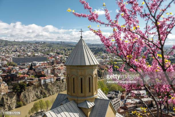 The Church on the background of Tbilisi