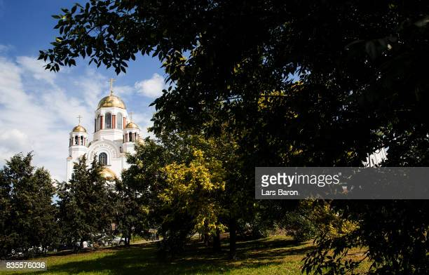 The church on the blood is seen on August 19 2017 in Ekaterinburg Russia