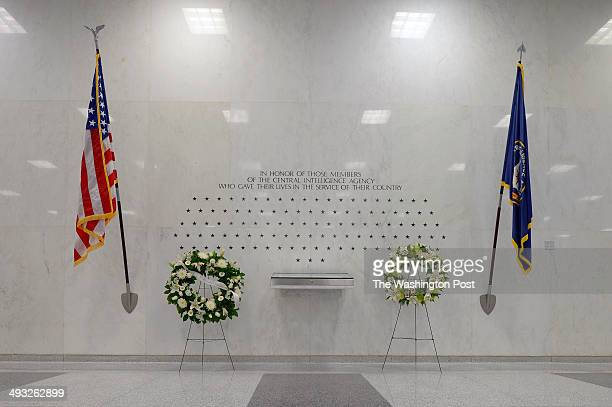 The CIA Memorial Wall in the lobby of the CIA Headquarters has stars signifying the agents and contractors killed in the line of duty working for the...