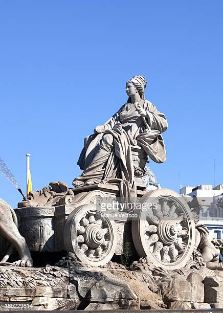 la cibeles - geometrical architecture stock photos and pictures
