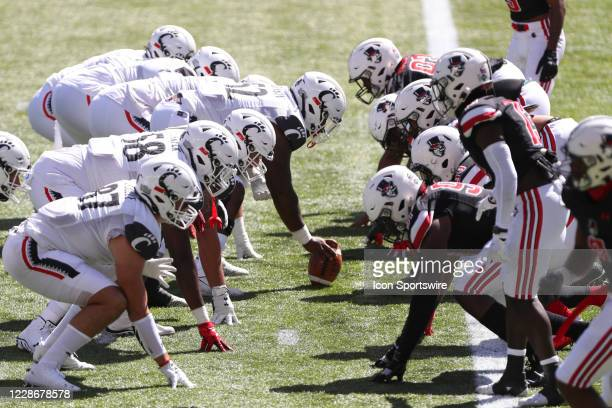 The Cincinnati Bearcats and Austin Peay Governors line up during the game against the Austin Peay Governors and the Cincinnati Bearcats on September...