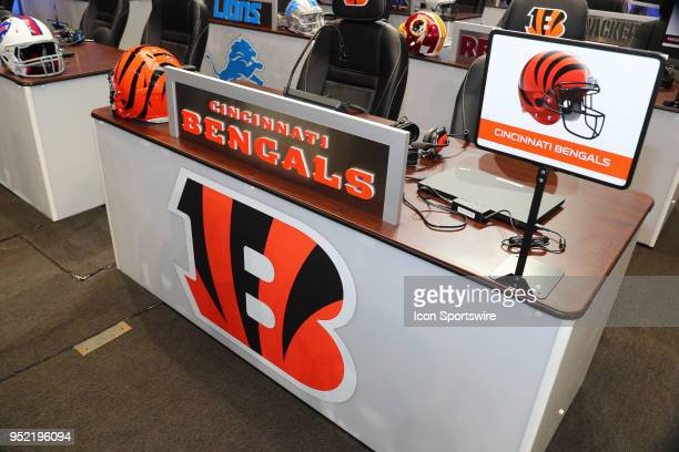 The Cincinnati Bengals Draft Table prior to the second and third rounds of the 2018 NFL Draft on April 27 at ATT Stadium in Arlington TX