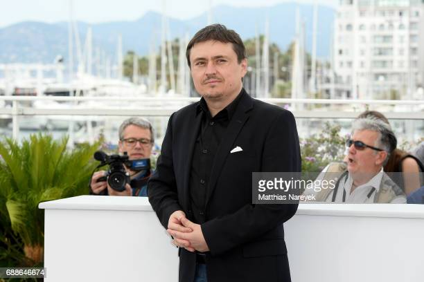 The Cinefondation and Short Films Jury President Cristian Mungiu attends the Jury Cinefondation during the 70th annual Cannes Film Festival at Palais...