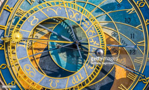 the circle of time - astrology stock pictures, royalty-free photos & images