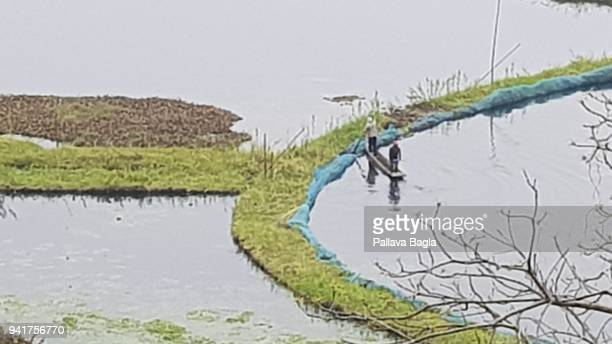The circular unique islands of floating vegetation called Phumdis The Indian government has set up its first floating laboratory on a fibre glass...