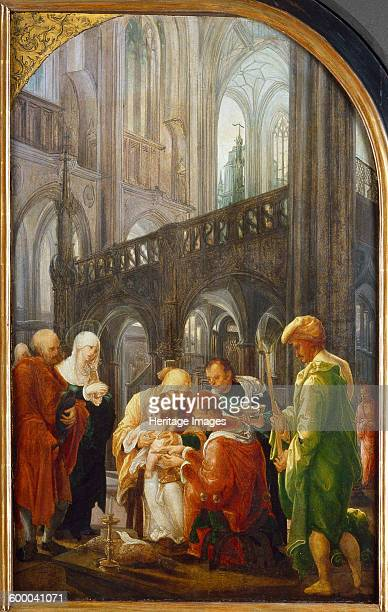 The circumcision of Christ 1521 Found in the collection of Dompfarrkirche St Nikolaus Feldkirch Artist Huber Wolf