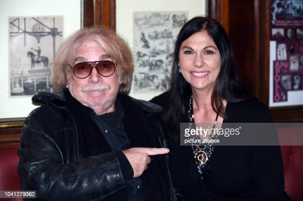 The circus director Clown and cofounder of Circus Roncalli Bernhard Paul and his Wife Eliana pose during their visit of the vaudevilleshow '1001...