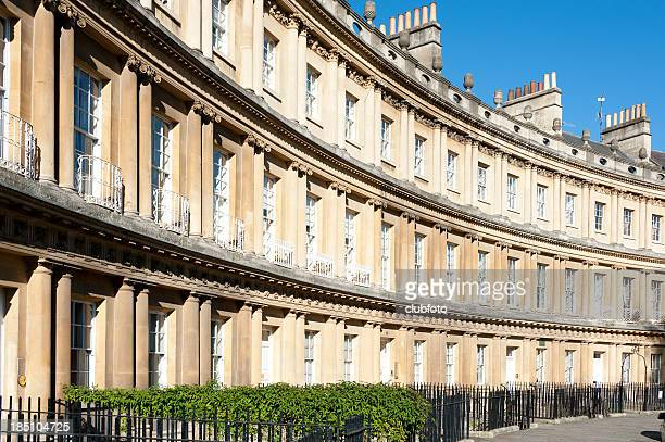 the circus in bath, somerset, uk - bath england stock pictures, royalty-free photos & images