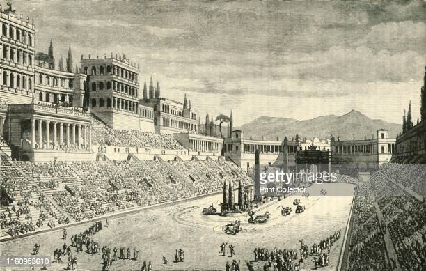 """'The Circus Maximus ', 1890. From """"Cassell's Illustrated Universal History Vol. II - Rome"""", by Edmund Ollier. [Cassell and Company, Limited, London,..."""