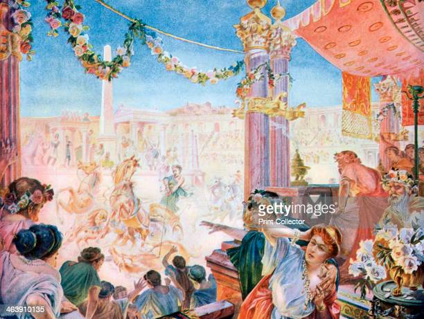 The Circus of Nero or the Circus of Caligula Rome A print from La Vie au Grand Air December 1901