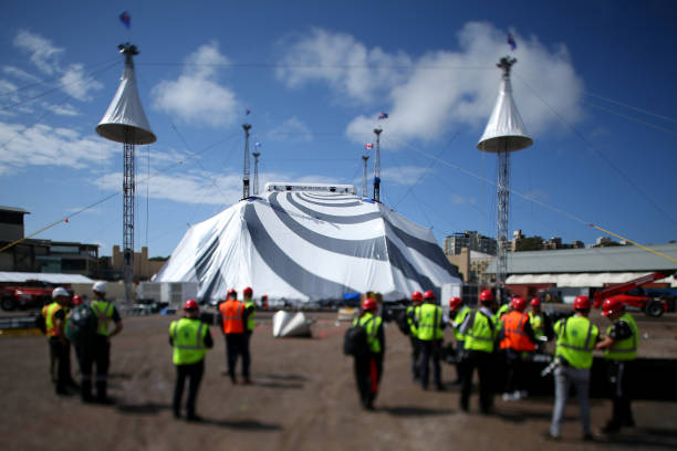 AUS: New Big Top Installed Ahead Of Cirque du Soleil's New Production KURIOS - Cabinet of Curiosities