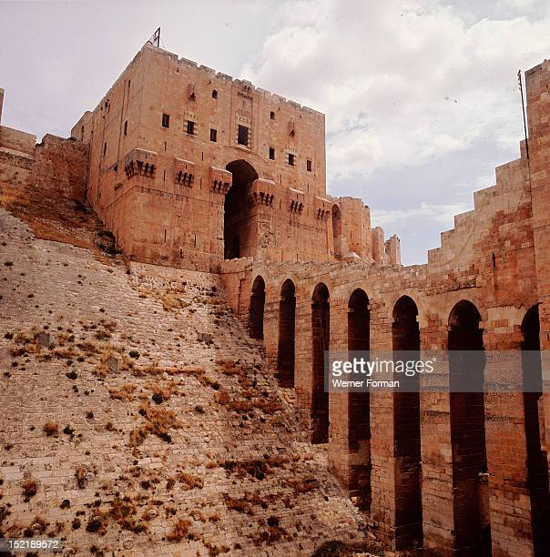 The Citadel at Aleppo During the second Crusade the citadel was captured and changed hands many times between the Crusaders and the Muslims Detail of...