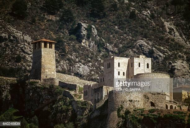 The citadel, castle of George Kastrioti Skanderbeg, Kruje, Albania, 5th-12th century.