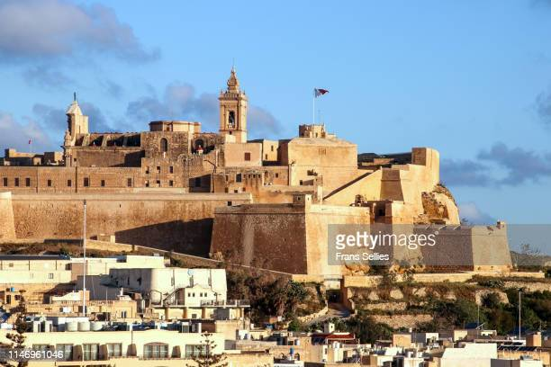 the citadel of ir-rabat (victoria city) , gozo island (malta) - insel gozo malta stock-fotos und bilder