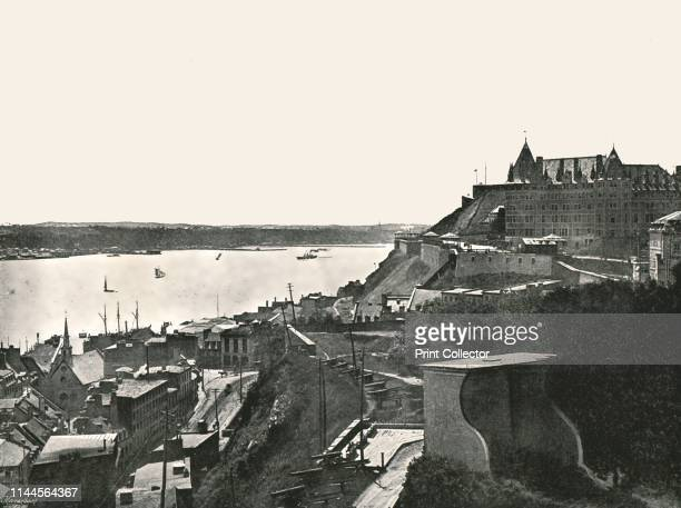 The Citadelle and the St Lawrence river, Quebec, Canada, 1895. View of La Citadelle, on Cap Diamant, built as part of the defensive ramparts of...